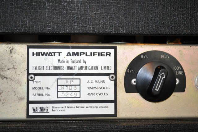 Hiwatt DR103 back face