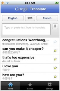Google translate for apple iphone