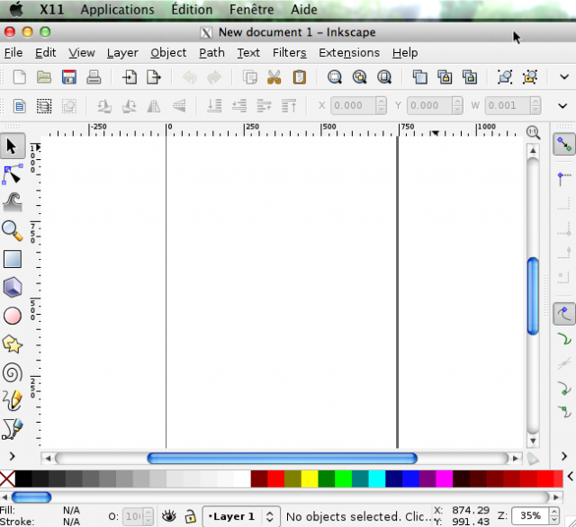 Inkscape X11 XQuartz Mountain Lion OS X Mac