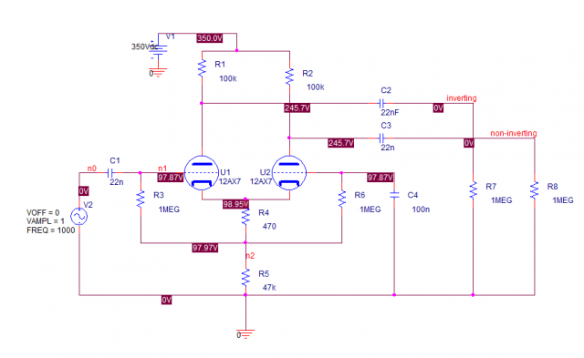 Long Tailed Pair PI Schematic