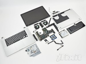 New apple MacBook Pro disassembled