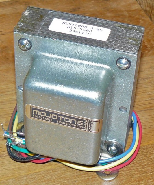Mojotone 3-65 output transformer for musicman amp