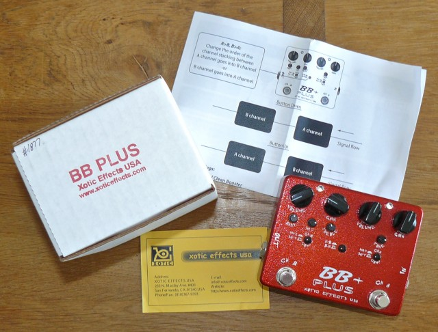 Xotic BB+ Preamp with box and manual