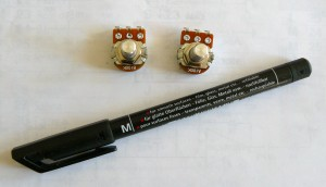 potentiometer and marker