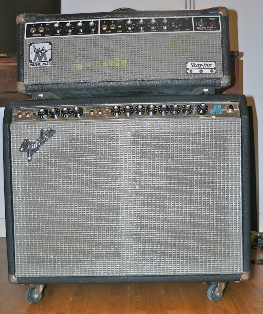 Fender twin reverb 135W silverface and Musciman sixty five