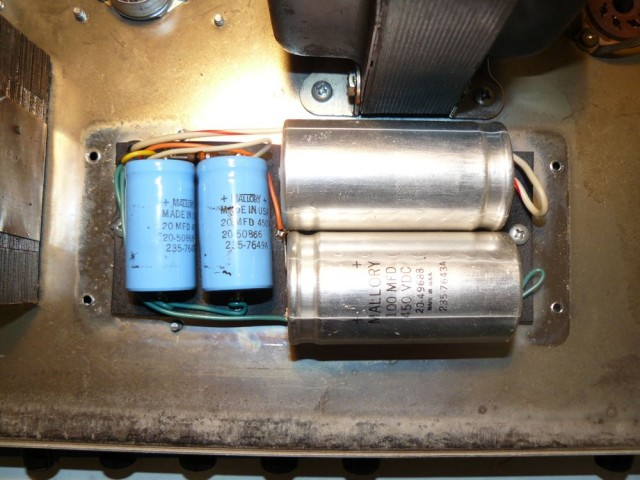 Music Man 2100-65 filter capacitors