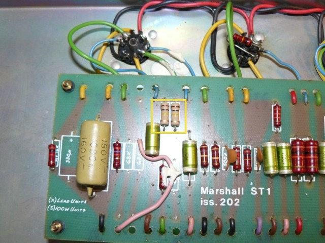 Marshall JMP 2203 100k replaced
