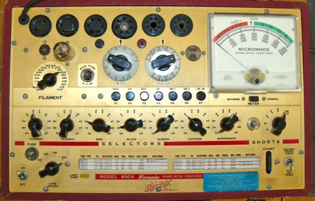 Hickok 600A tube tester (2)