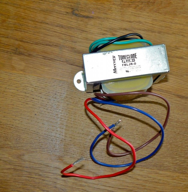 Fender Blues Junior output transformer mod mercury magnetics 1