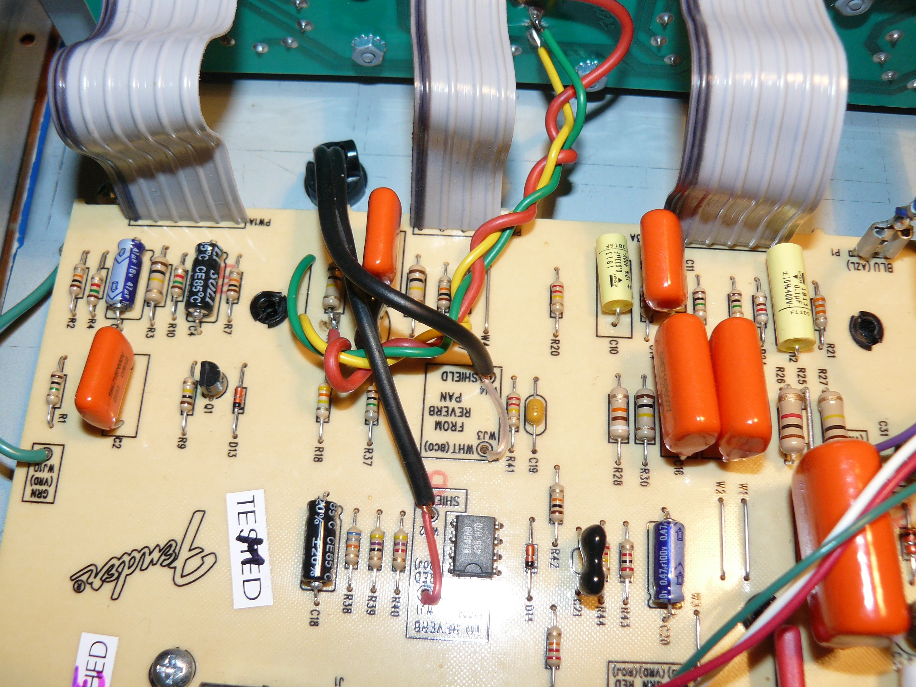 Fender Blues Junior Mods It 11 Audio Tonegeek Strat Wiring 2 Tone Caps Cathode Follower Mod 1