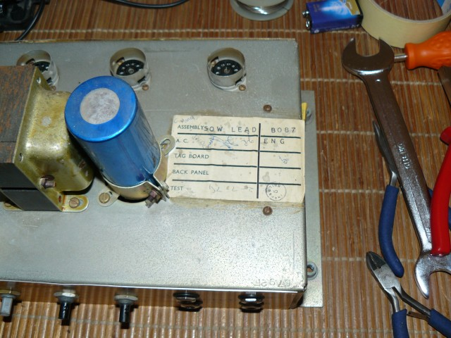 Marshall JMP50 JMP 50 1987 label