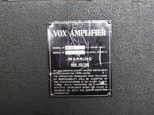 Vox AC30 1968 serial