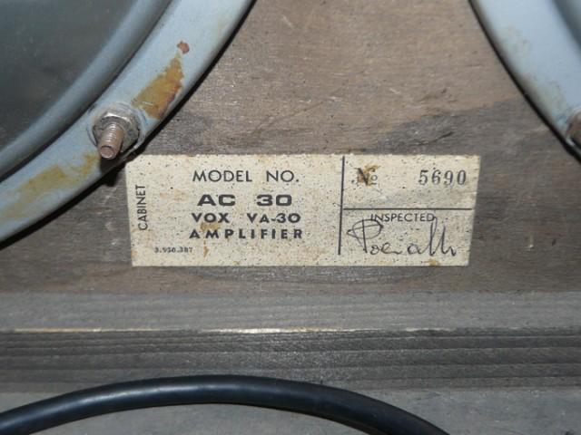 Vox AC30 1968 serial cabinet