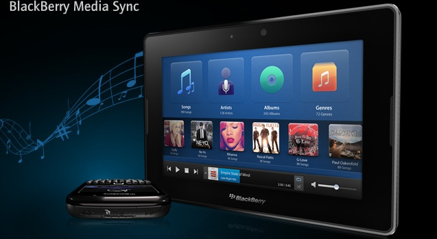 blackberry playbook MAC OSX