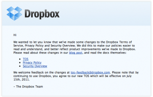 dropbox terms of use privacy