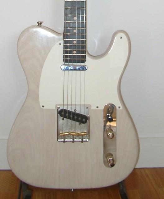 Warmoth telecaster blonde white