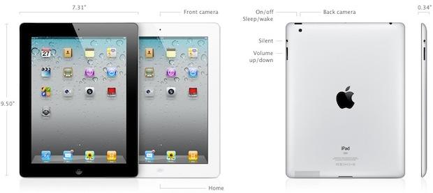 Apple ipad 2 specs