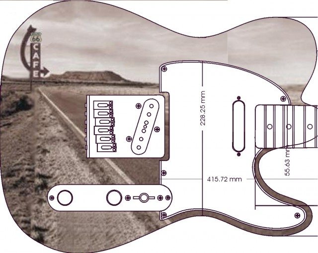 warmoth telecaster route 66 simulation