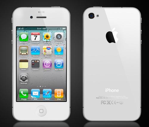 white apple iphone 4