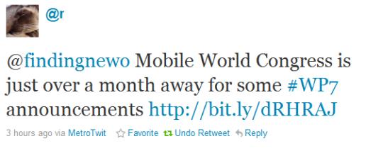mobile world congress next windows phone 7 version